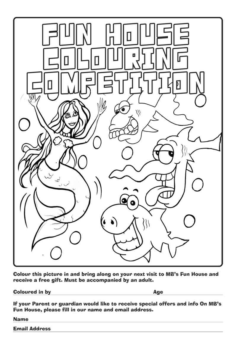 MB\'s Fun House Colouring Competition.